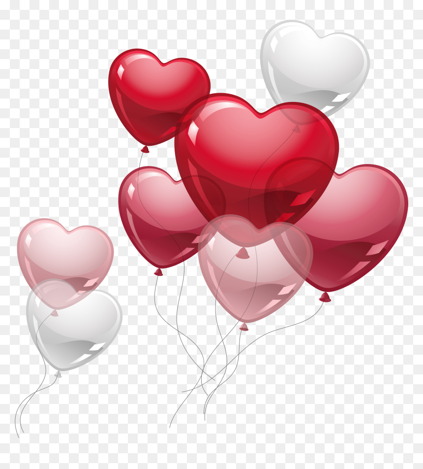 Happy Birthday Heart Balloons, HD Png Download