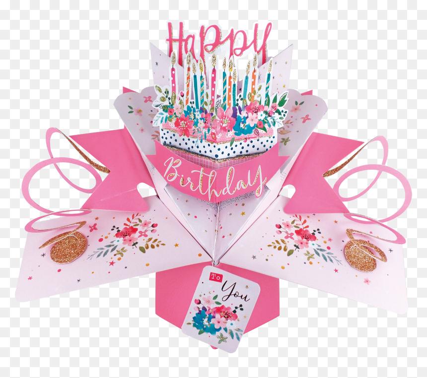 Celebration 3d Pop Up Card Happy Anniversary Birthday - Pop Up Card Happy Birthday, HD Png Download