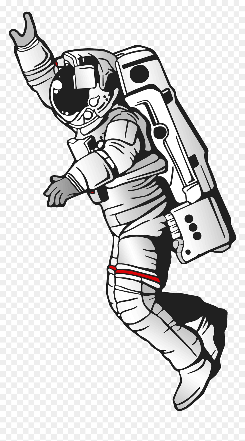 Outerspace Drawing Astronaut Frames Illustrations Hd - Transparent Cartoon Astronaut Png, Png Download