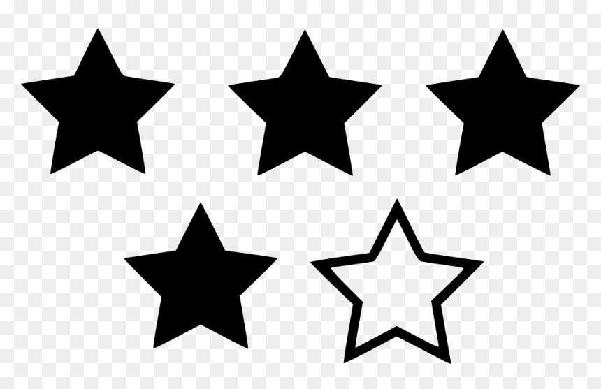 Four Star Rating Star Rating Icon Png Transparent Png 980x590