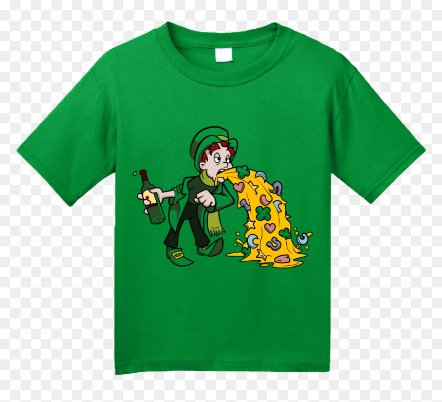 Youth Green Un Lucky Leprechaun Puking T Shirt - Camisa Nike Just Do It, HD Png Download