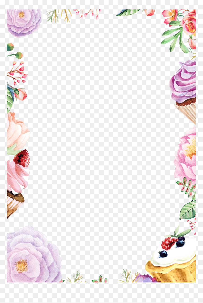 Transparent Background Watercolor Flower Png, Png Download