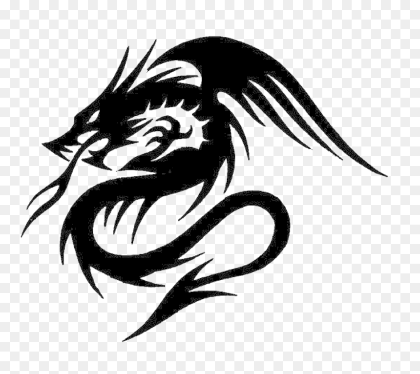 Tribal Dragon Tattoo Png, Transparent Png