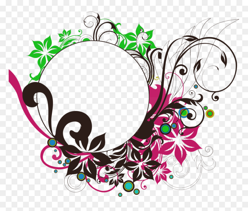 Floral Round Frame Png Photo - Transparent Circle Design Png, Png Download
