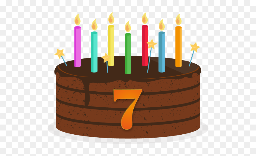 Thumb Image - 7th Birthday Cake Clipart, HD Png Download