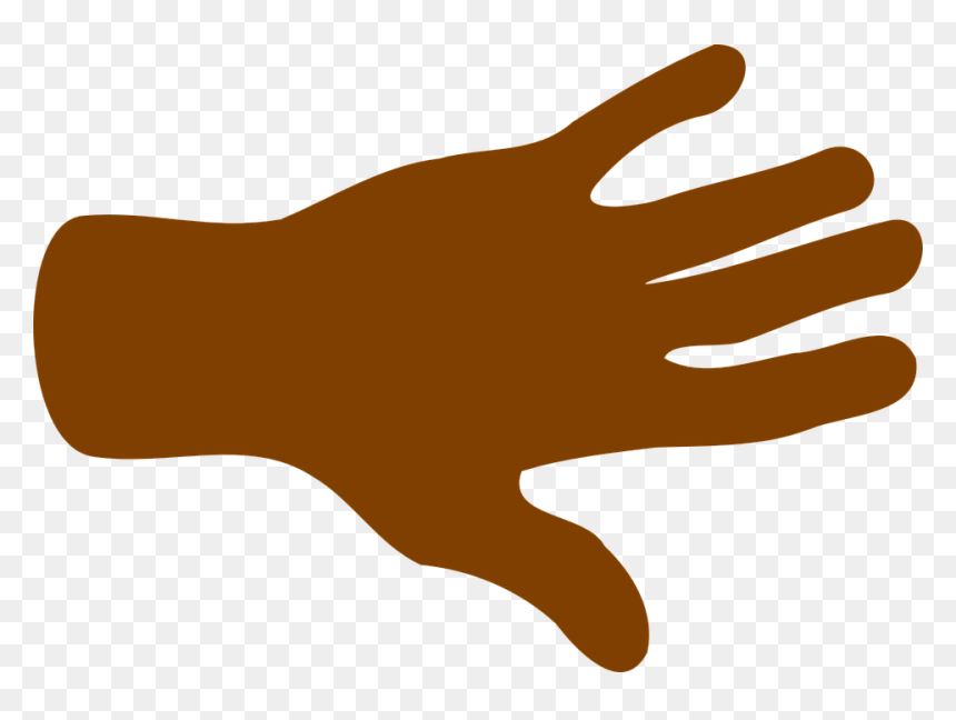 Hand Palm Fingers - African American Hand Clipart, HD Png Download