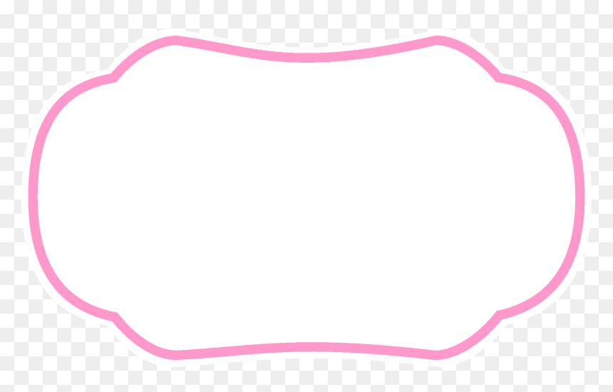 Transparent Cute Png Tumblr - Frame Rosa Png Fundo Transparente, Png Download