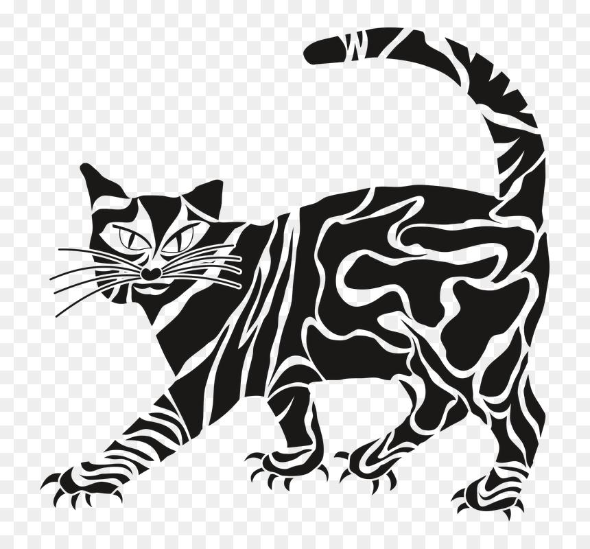Gato, Animal, Bigode, Uma Pequena Sucção, Natureza - Kartun Hitam Putih Keren, HD Png Download