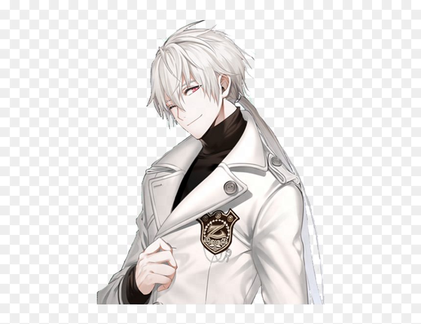 Thumb Image Handsome White Haired Anime Boy Hd Png Download 560x581 Png Dlf Pt