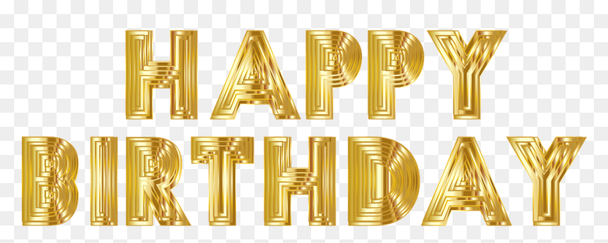 Happy Birthday Gold Transparent Background, HD Png Download