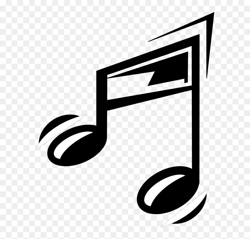 Funny Music Note - Music Notes Gif Png, Transparent Png