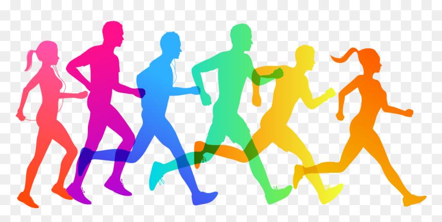 Clip Art Cross Country Running Vector Graphics 5k Run - Vector Cross Country Running, HD Png Download