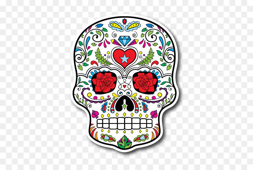 Sugar Skull Hand Tattoos - Sugar Skulls Designs, HD Png Download