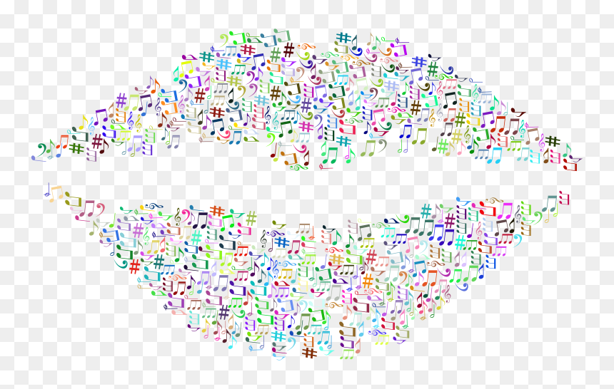 Musical Lips - Music Note Lips, HD Png Download