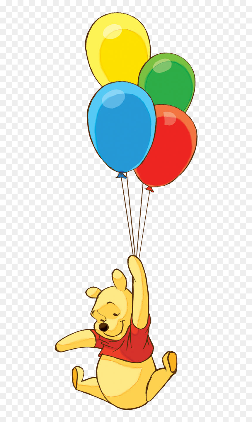 Transparent Baby Winnie The Pooh Png - Winnie The Pooh With Balloon, Png Download