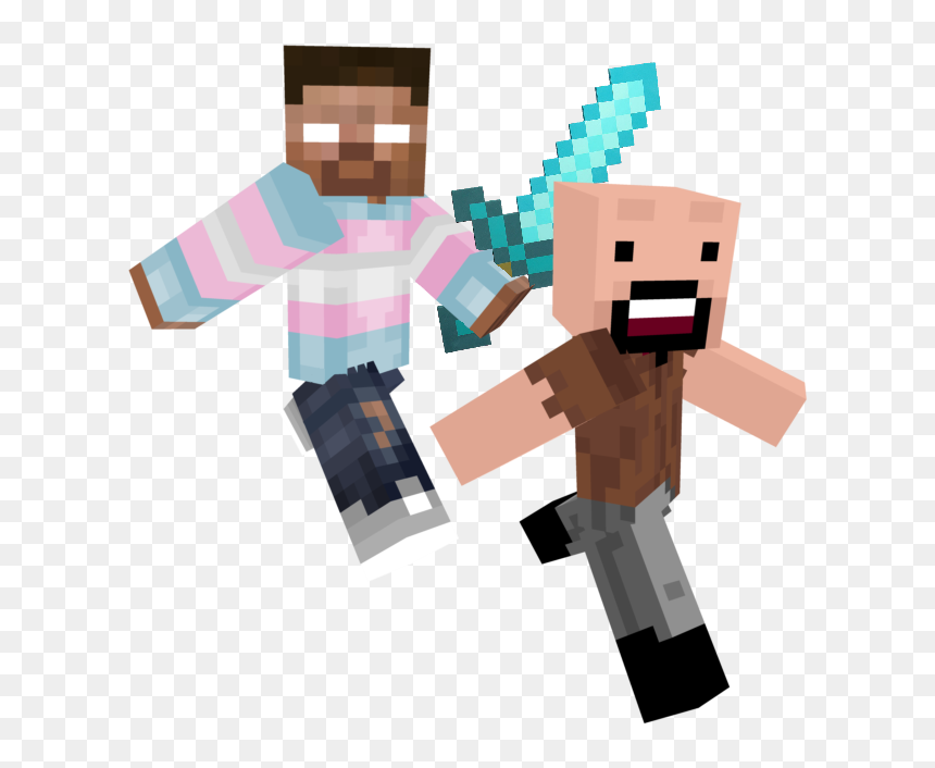 Pants Icon Png - Trans Icon Herobrine With Better Pants, Transparent Png