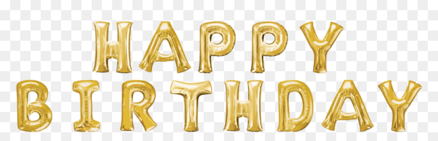 Happy Birthday To You Garland Toy Balloon Gold - Calligraphy, HD Png Download