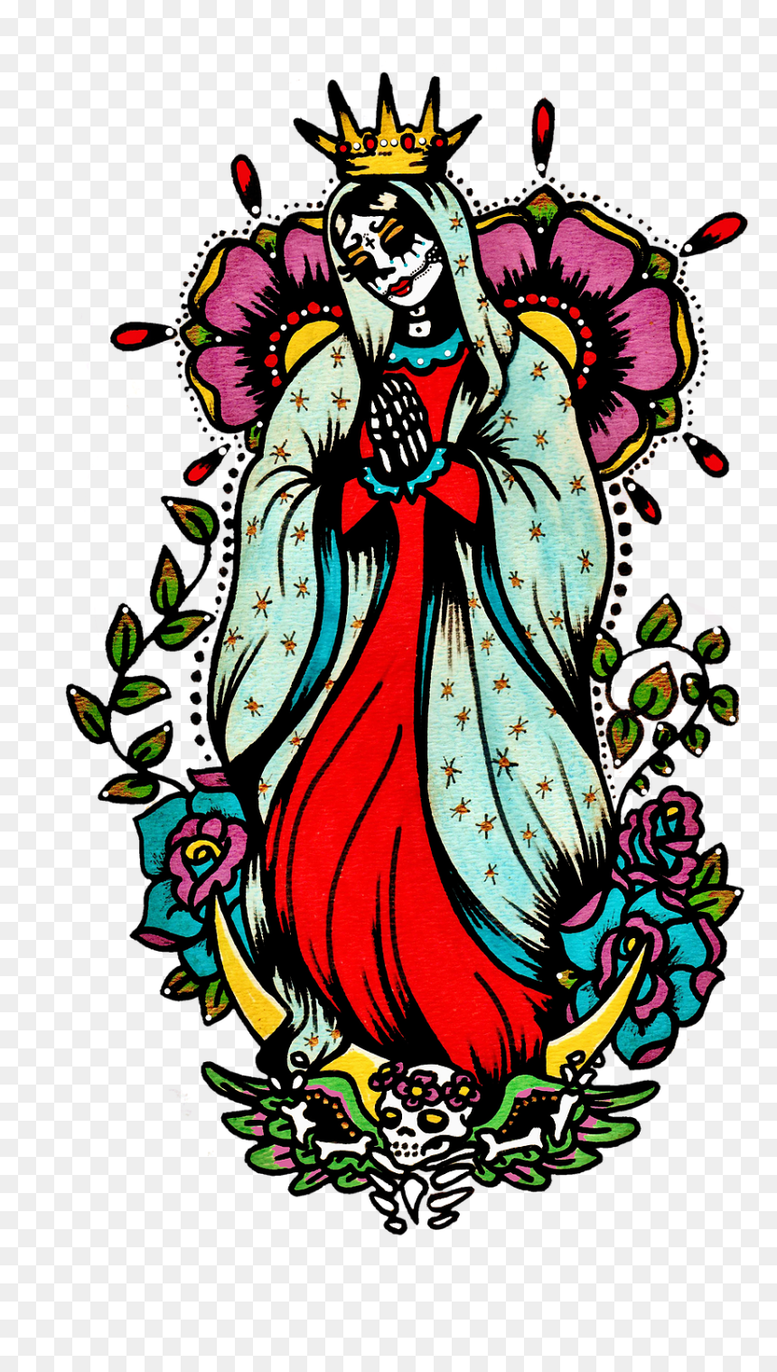 Transparent Virgin Mary Png - Day Of The Dead Virgin Mary, Png Download