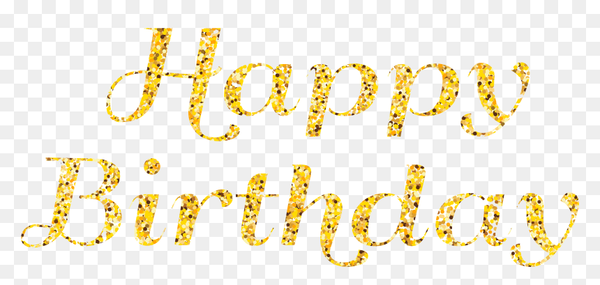 Happy Birthday Free Png Clip Art Image - Calligraphy, Transparent Png
