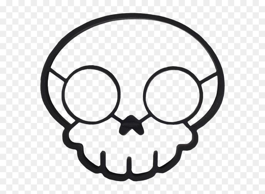 Funny Side Up Skull Egg Mould - กะโหลก การ์ตูน Png, Transparent Png