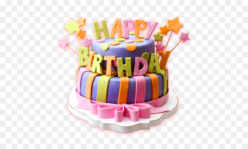 Happy Birthday Cake Png, Transparent Png