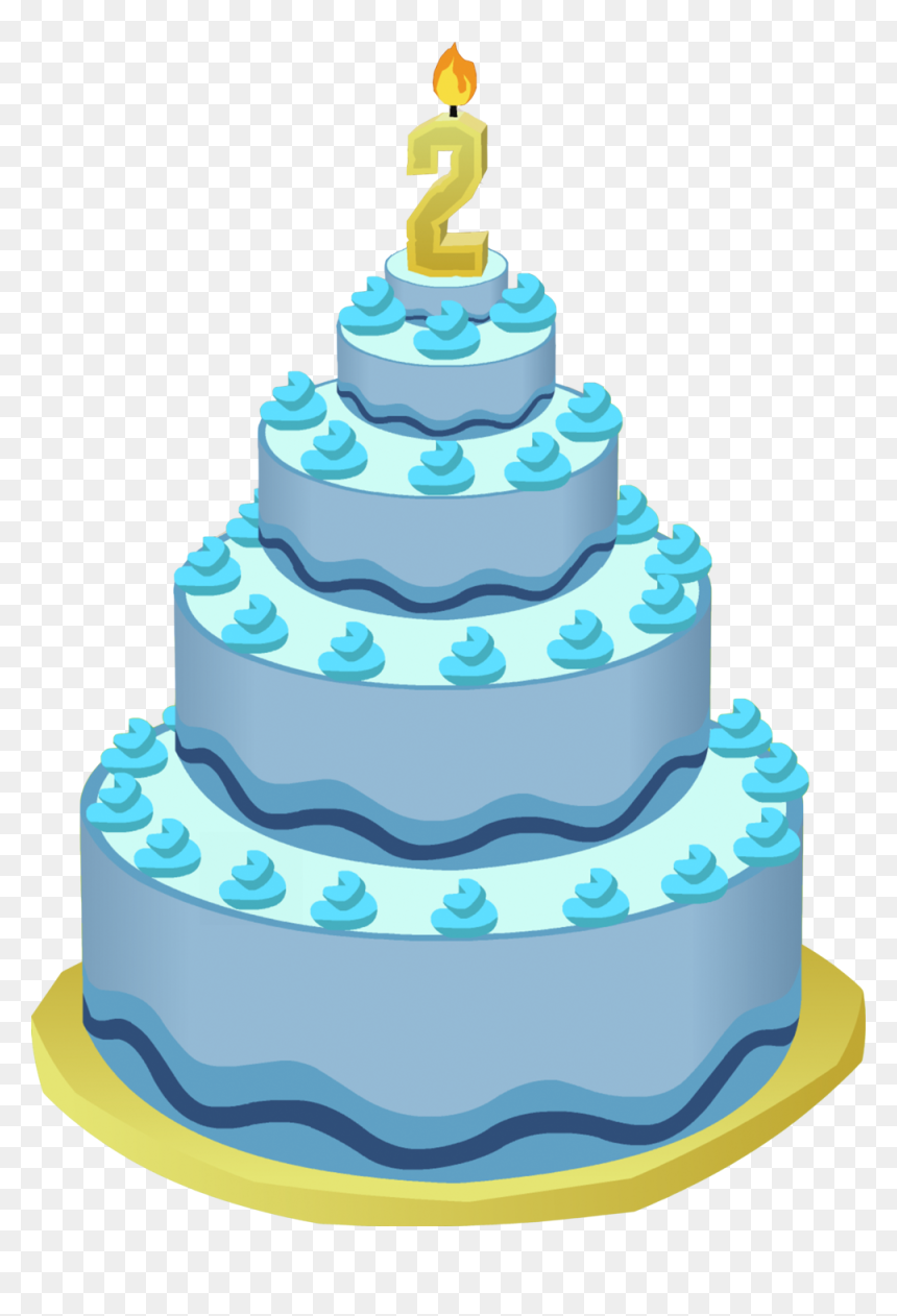 2nd Happy Birthday Cake Png, Transparent Png