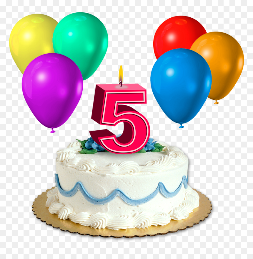 Happy Birthday 5 Png, Transparent Png