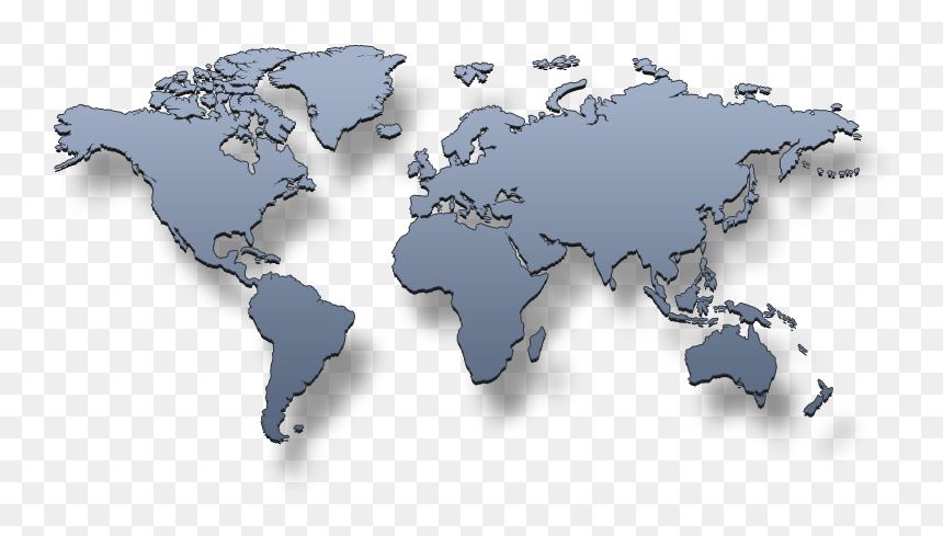 Transparent Background Maps Of The World, HD Png Download