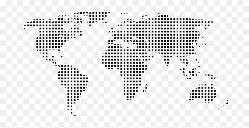 Digital World Map Png, Transparent Png