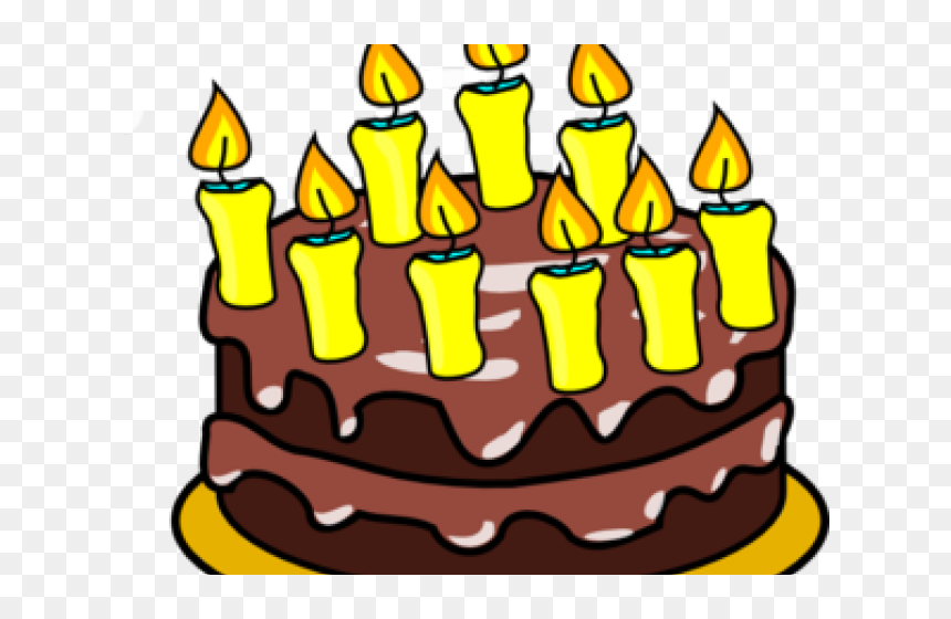 Birthday Candles Clipart Birthday Cake - 9th Birthday Cake Clipart, HD Png Download