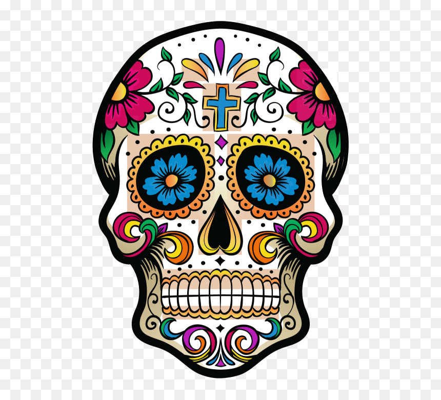 Thumb Image - Mexican Day Of The Dead Skulls, HD Png Download