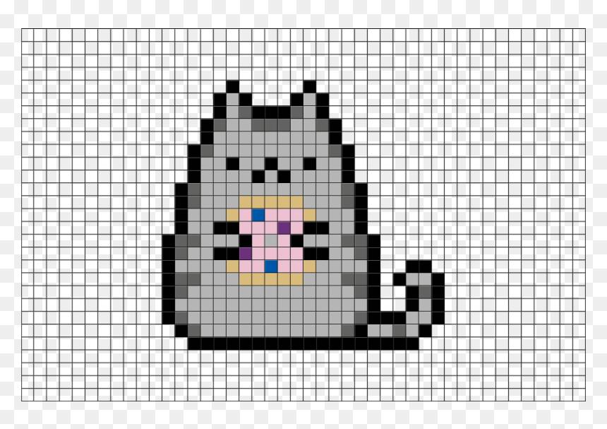 Pixel Art Fat Cat Hd Png Download 880x581 Png Dlf Pt