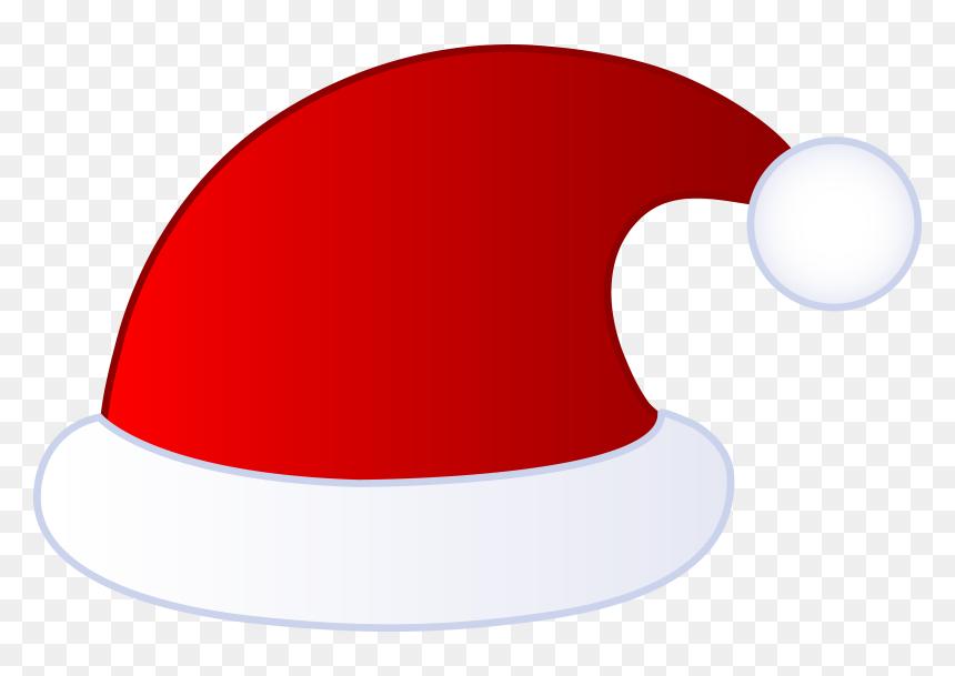 Topi Santa Claus Png, Transparent Png