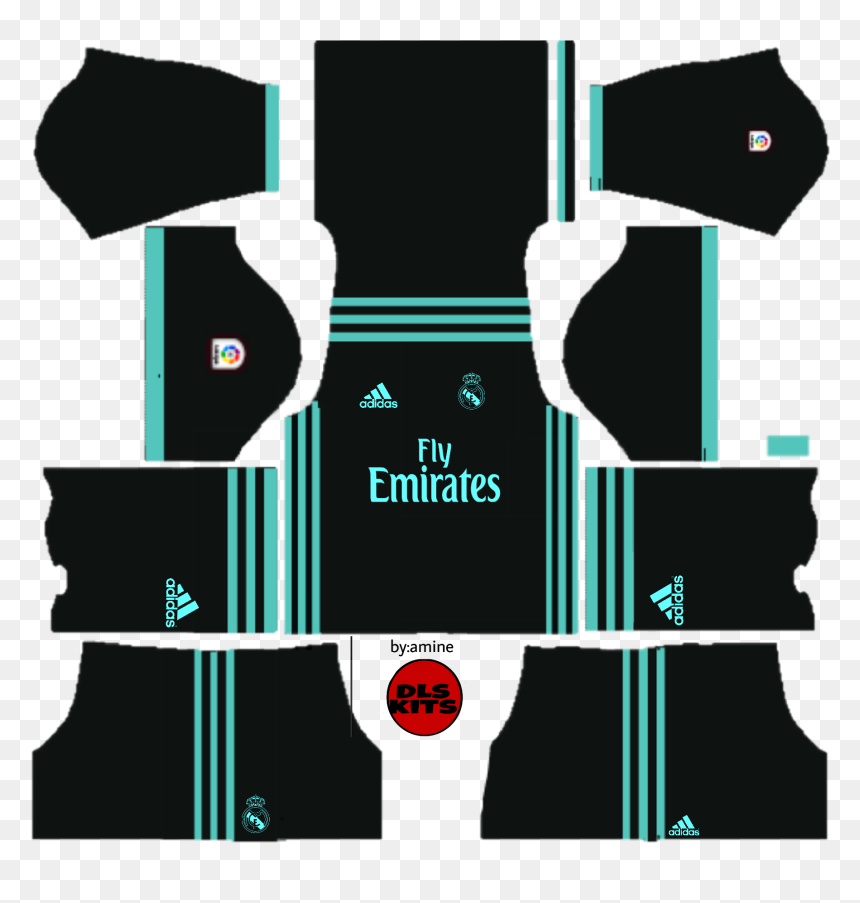 Kit Do Real Madrid Png, Transparent Png