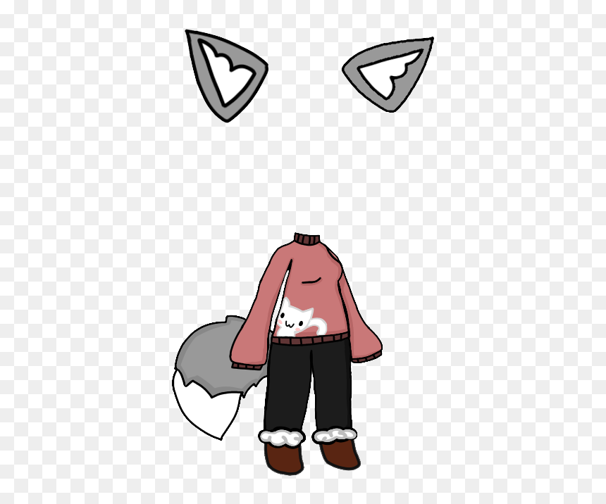 Kitty Sweater Gacha Life Wolf Ears Wolf Tail Wolf Draw Gacha Life Tails Hd Png Download 479x699 Png Dlf Pt