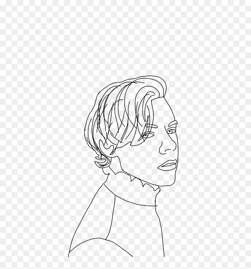 #harry #styles #harrystyles #harrystyles #onedirection - Harry Styles Line Drawing, HD Png Download