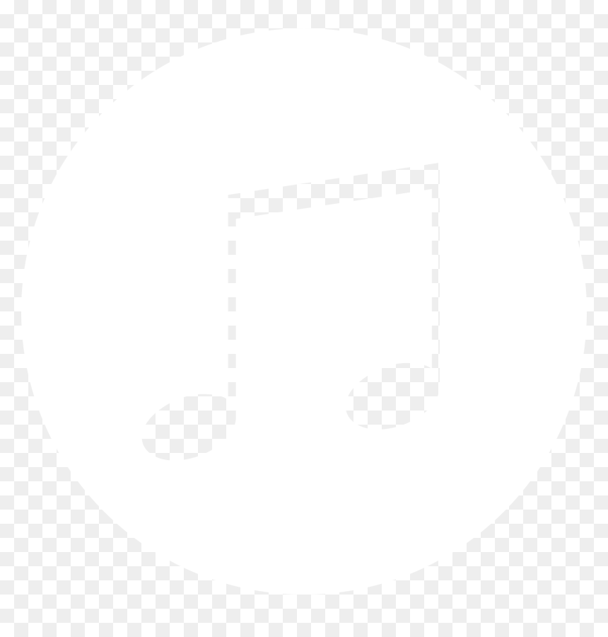Transparent Song Icon Png - Music Note White Background, Png Download