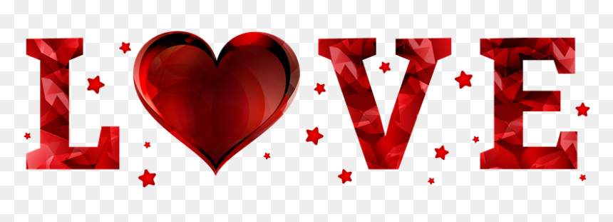 Love, Feelings, Transparent Background, Red, Gradient - Imagenes De Amor Con Fondo Transparente, HD Png Download