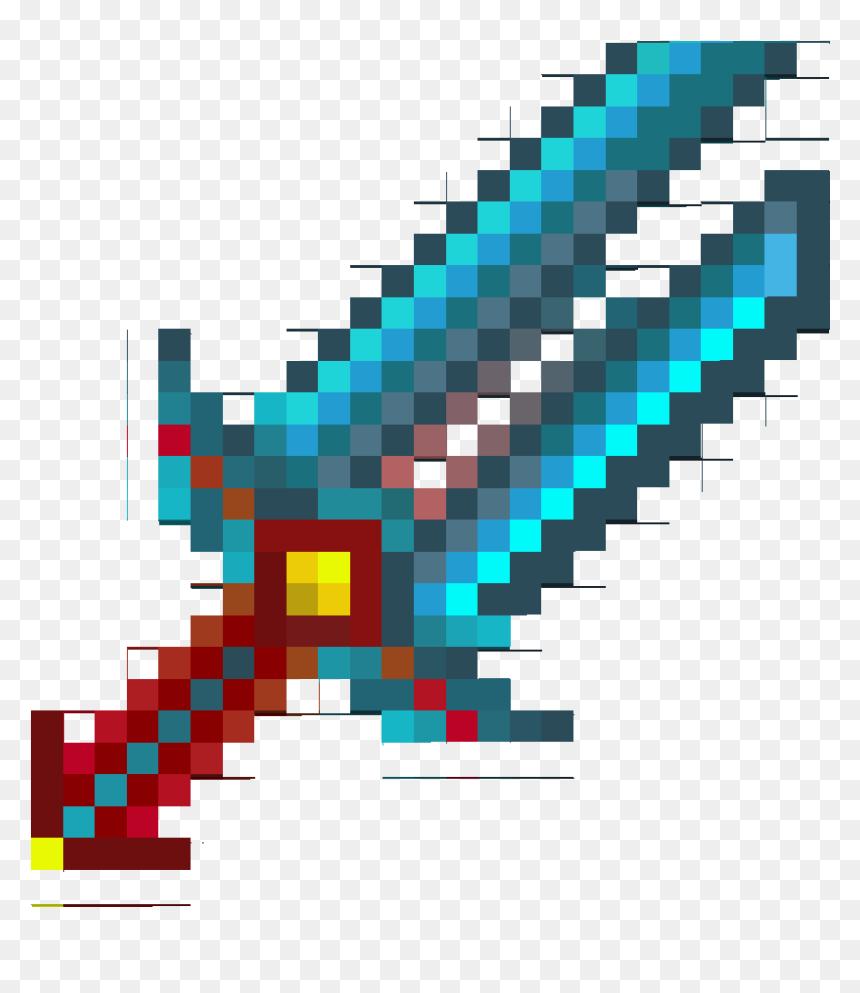 Transparent Minecraft Diamond Sword Png Diamond Sword Minecraft Png Download 842x913 Png Dlf Pt