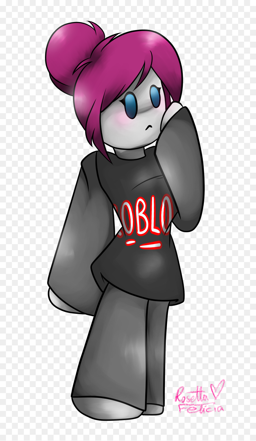 Anime Girl Guest Roblox, HD Png Download