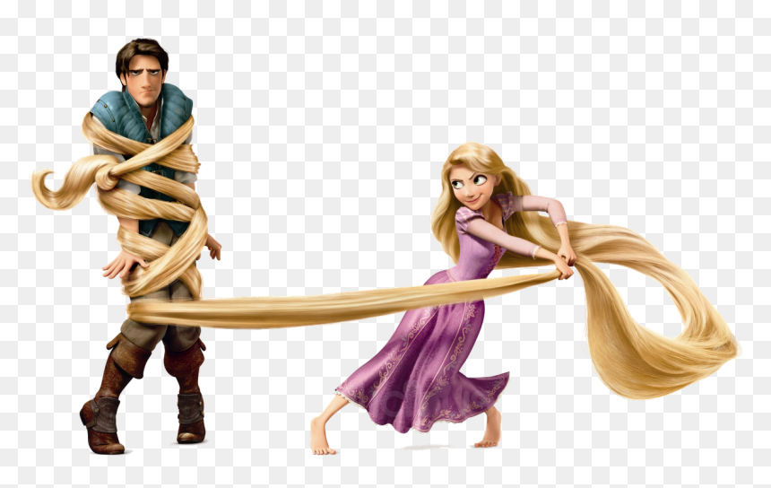 Rapunzel Flynn Rider Tangled - Flynn Rider Rapunzel Tangled, HD Png Download
