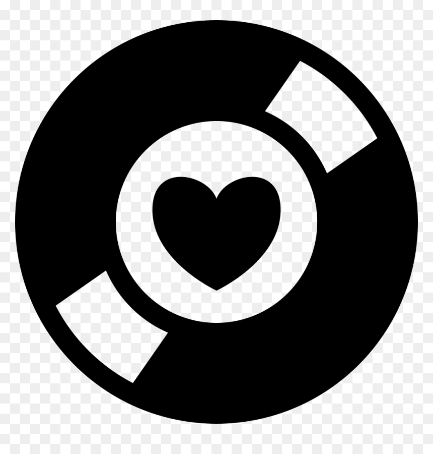 Music Collector Symbol Of A Disc With A Heart At The - Simbolos De Musica Electro, HD Png Download