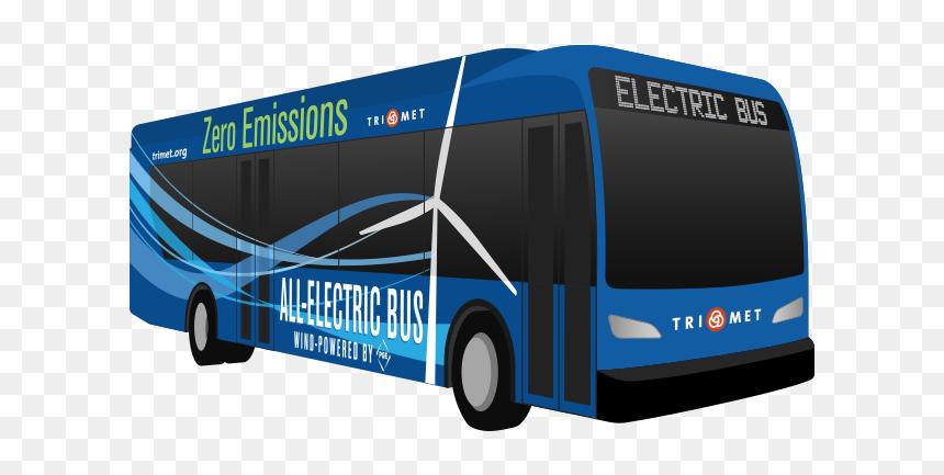 Trimet Electric Bus, HD Png Download