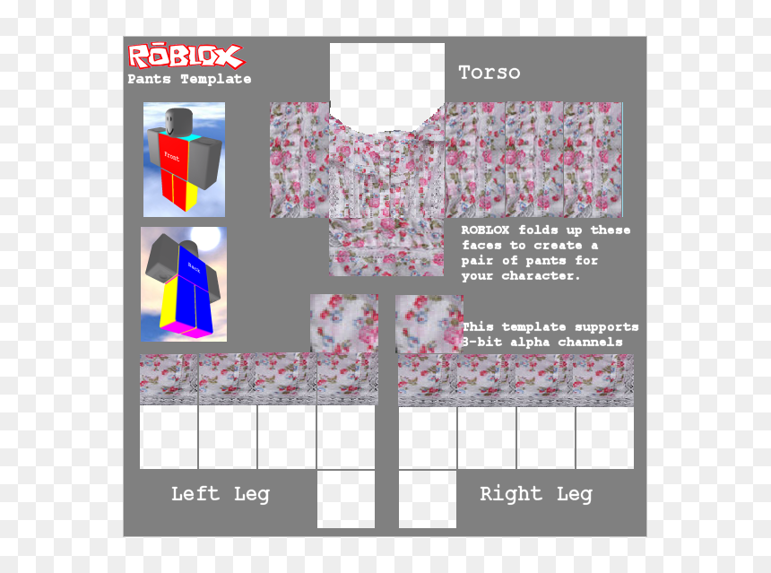 Roblox Pants Template, HD Png Download