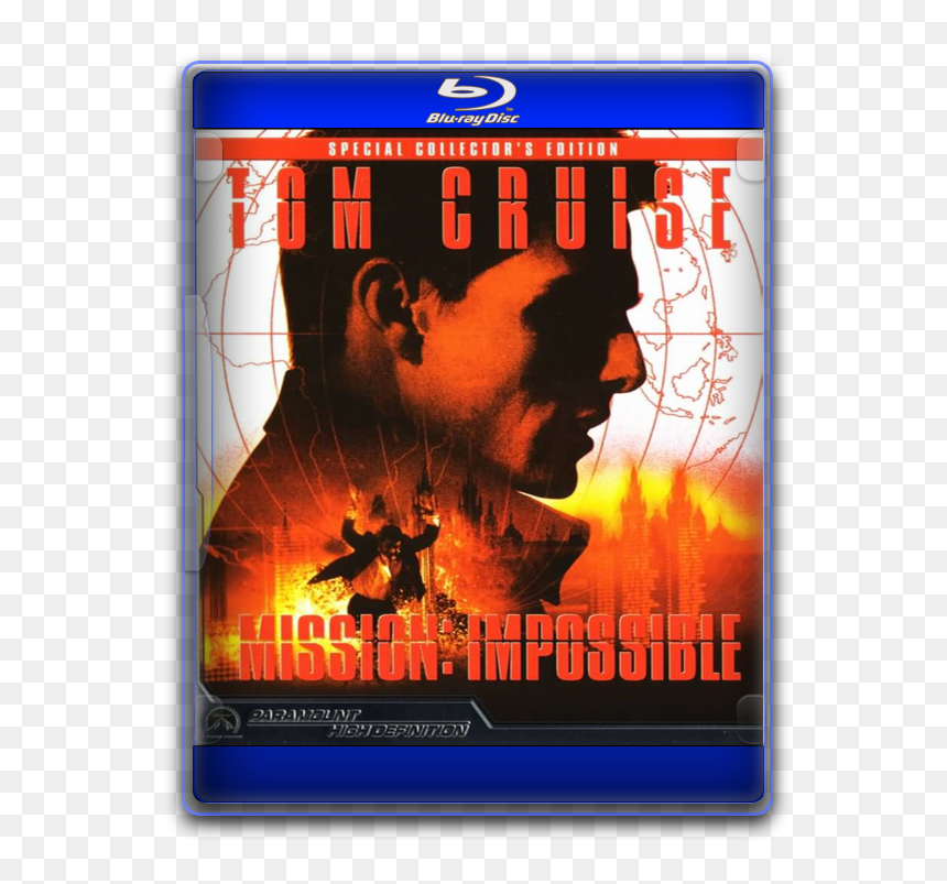 Mission Impossible 1996 Movie Poster Mission Impossible Blu Ray Hd Png Download 576x723 Png Dlf Pt
