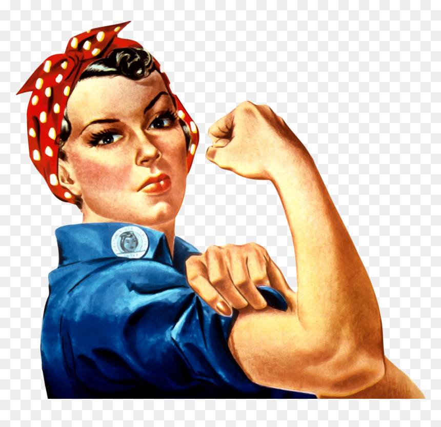 Rosie The Riveter Transparent Background - Rosie The Riveter Png, Png Download