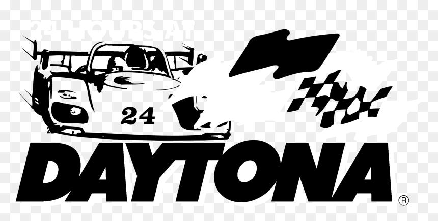 Daytona 24 Hours Logo Black And White - 24 Hours Of Daytona Logo, HD Png Download