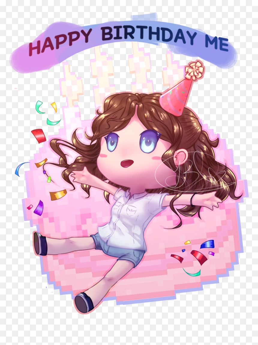 Happy Birthday To Me - Happy Birthday To Me Kartoon, HD Png Download