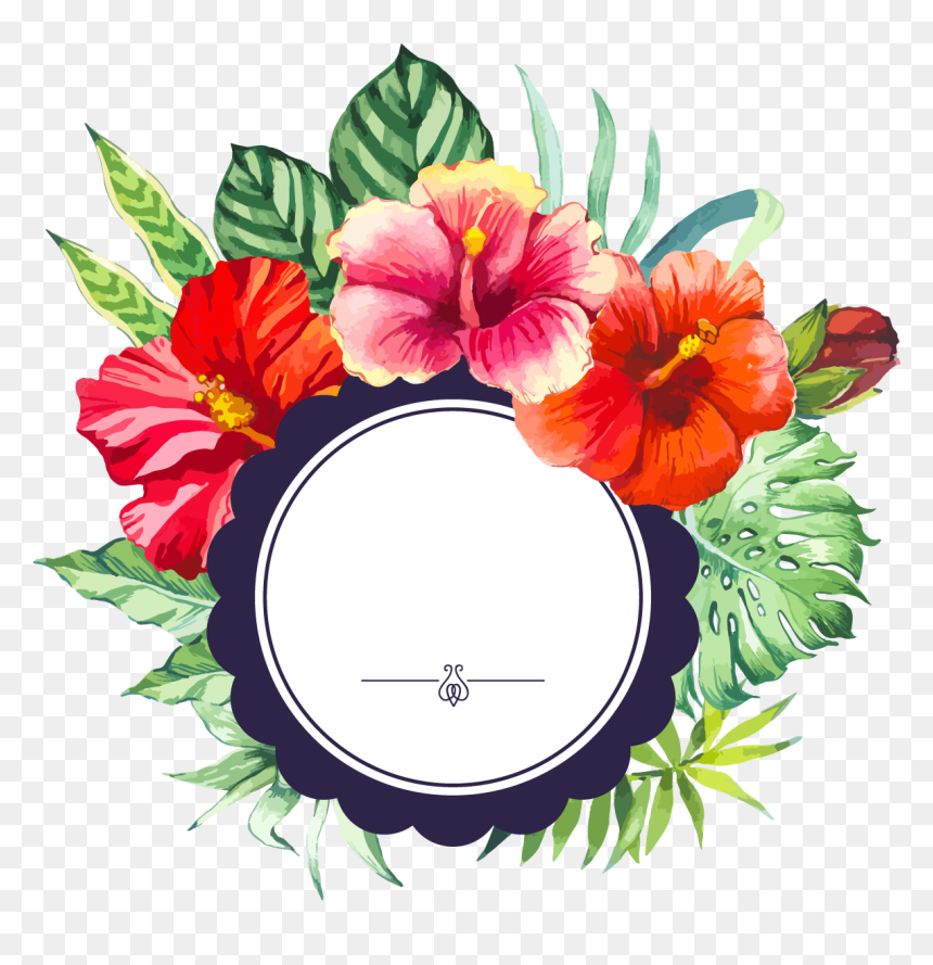 Clipart Floral Border Png, Transparent Png