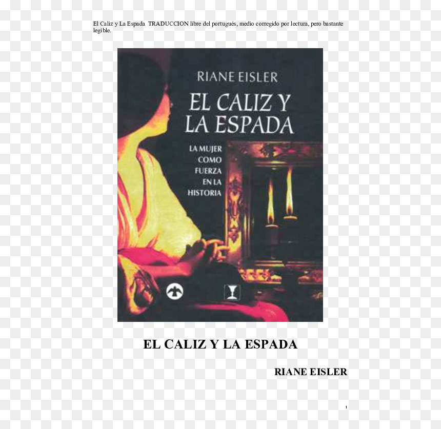 Caliz Y La Espada Libro, HD Png Download
